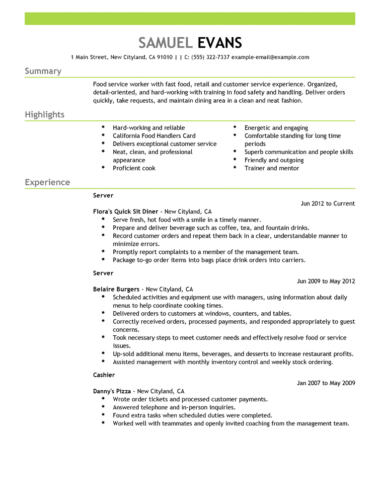 Show Me Free Resume Samples. Sample Of A Resume Format Show Me