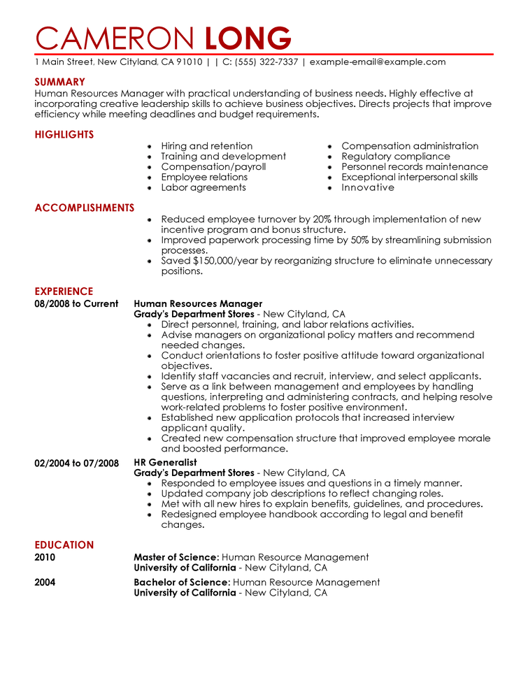 Sample Hr Resumes. Resume Sample Hr Assistant Sample Resume Hr