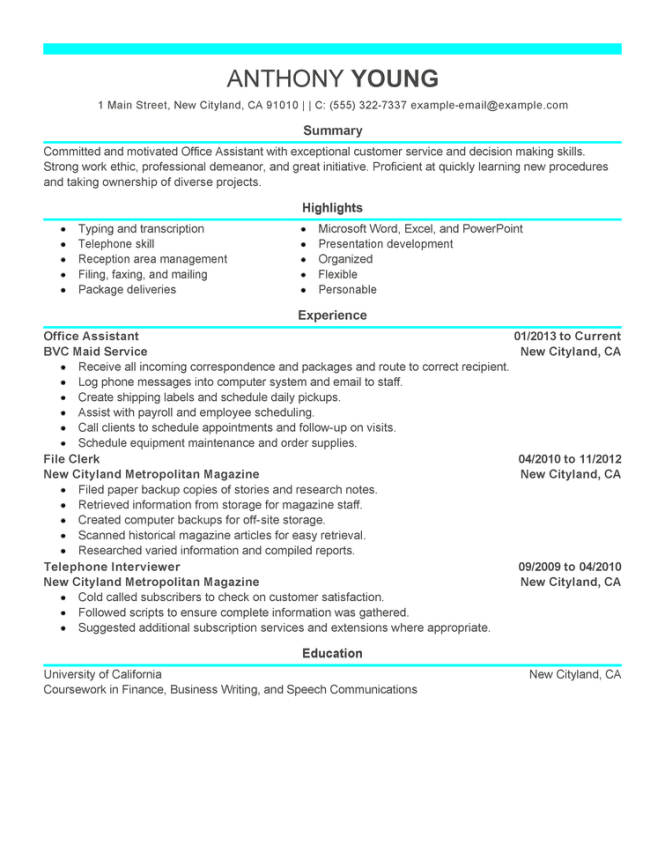 free resume examples by industry job le livecareer - Young Professional Resume