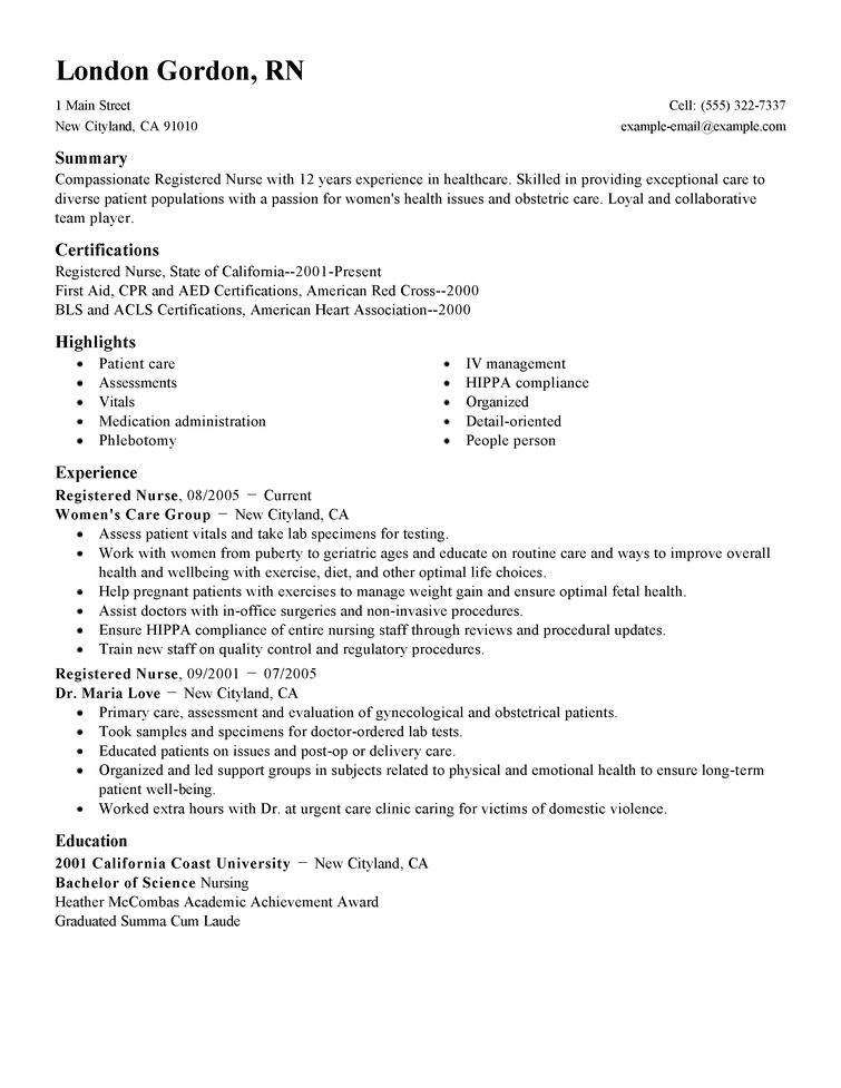 Good Nursing Resume Skills. Resume Nurse Objectives Samples