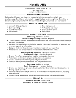 resumes examples by industry and job title picture of resume