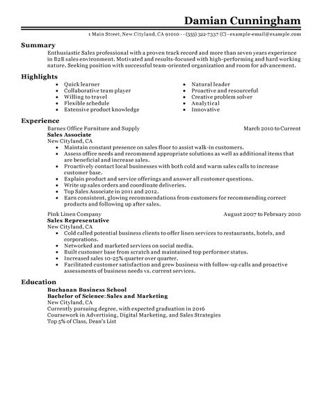 salesperson resume sample sample resume custom illustration middot
