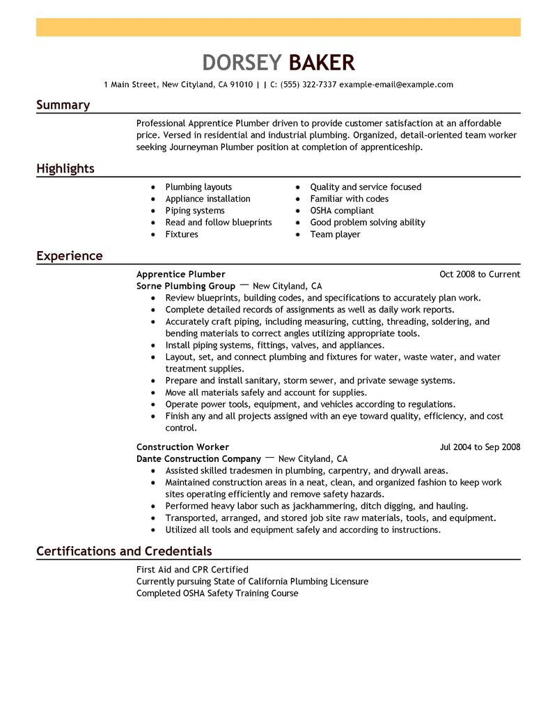 great resume titles examples pipefitter helper resume examples