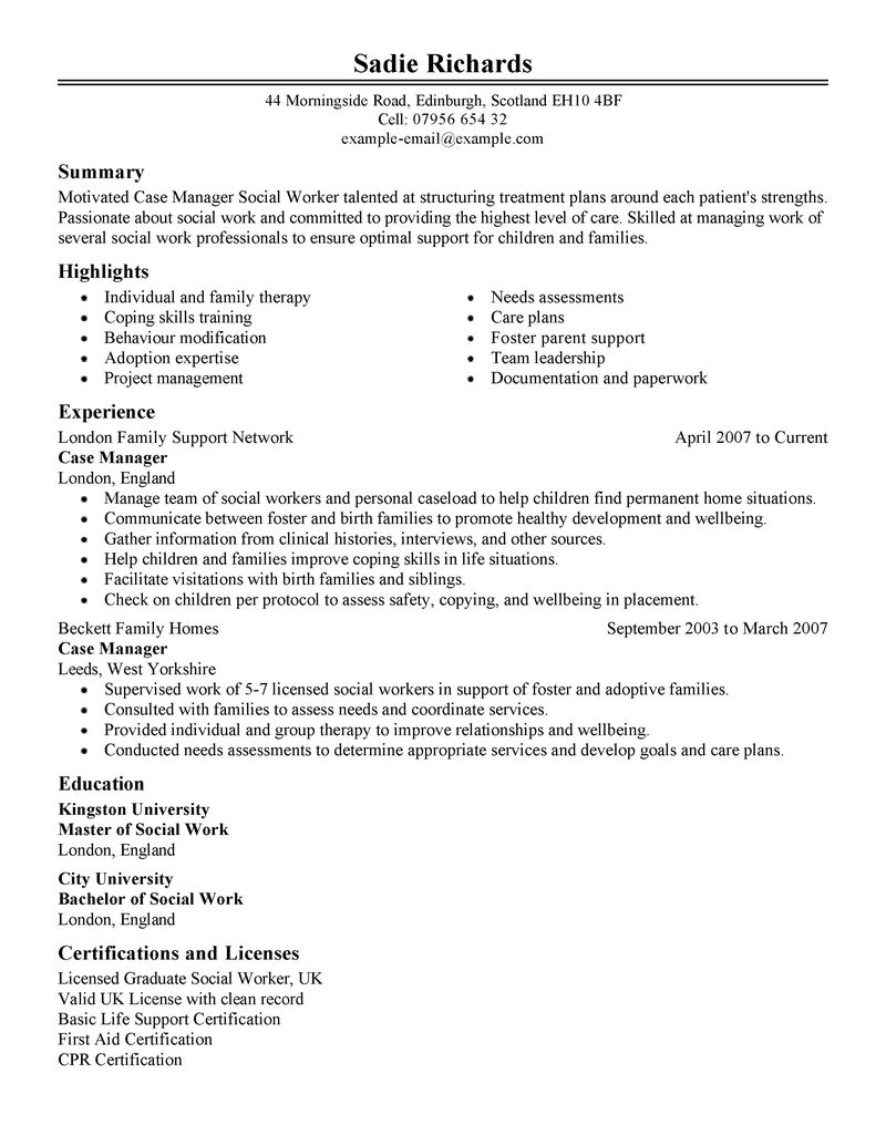 resume for case manager nurse case manager resume sample case