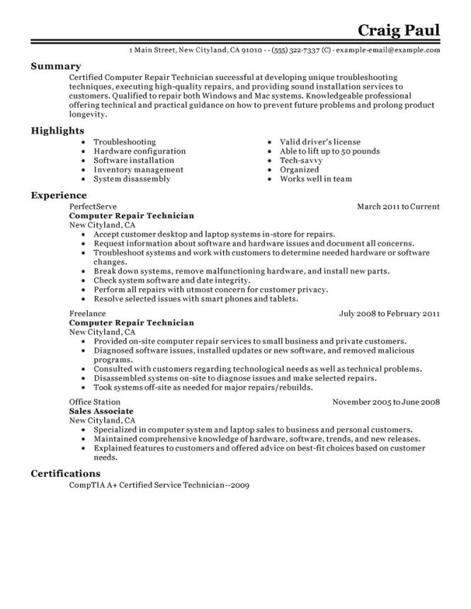 technology sales resume examples