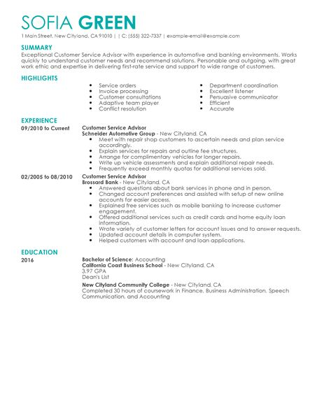 resume examples customer service resume examples livecareer