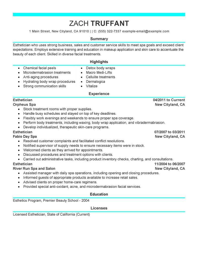 cosmetologist resumes cosmetologist resume samples for cosmetology