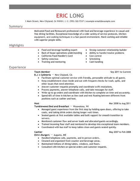 Bar Job Resume Samples. Resume Sle Retail Bar Back Resume Bar Back