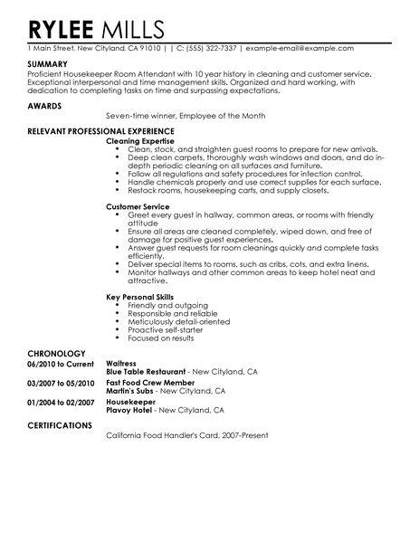 House Keeping Resume. Housekeeping Resume. Housekeeping Resume