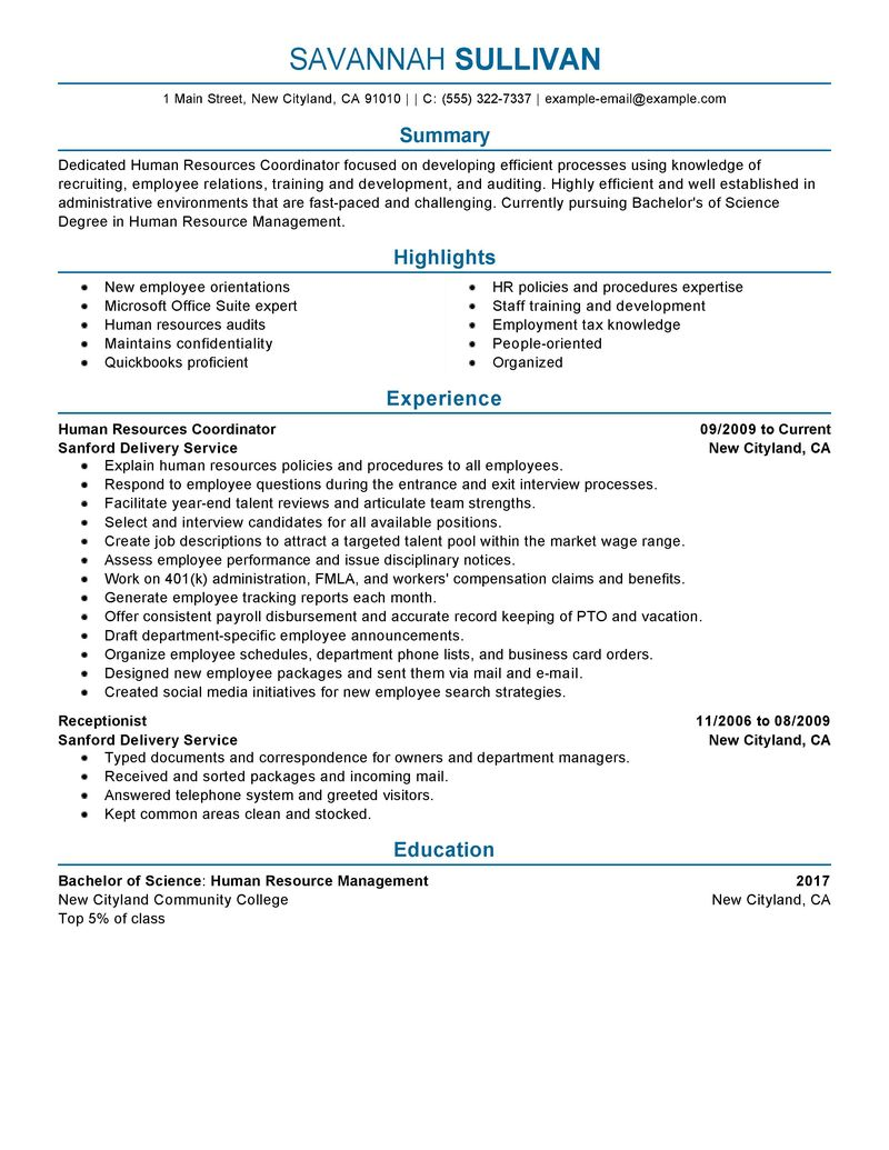 Indian Hr Resume Samples. hr coordinator resume example human amp ...