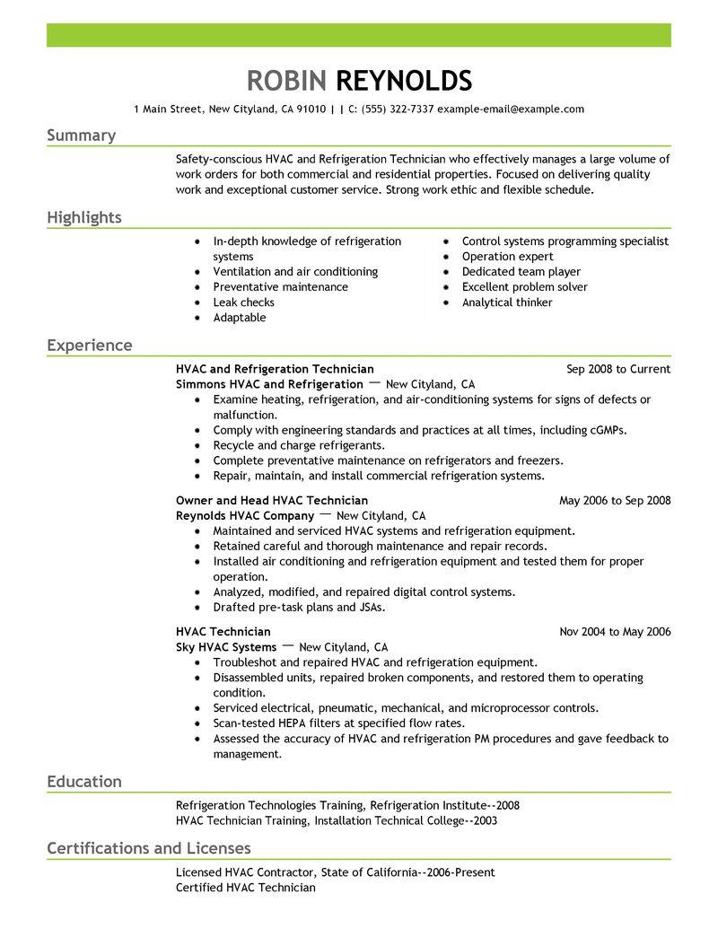 maintenance job description resume installation technician job