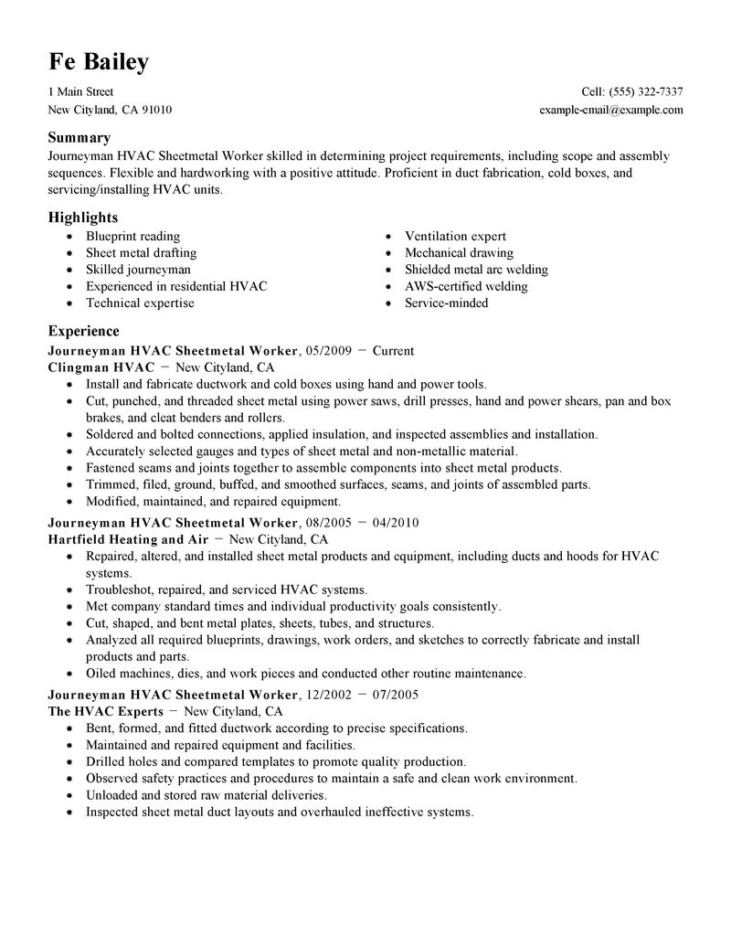 hvac resume examples info hvac resume template hvac resume bilder example hvac repair hvac