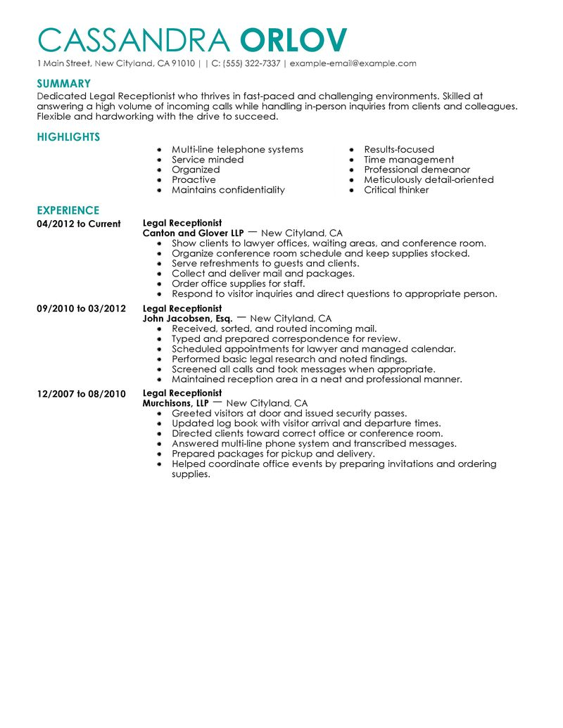resume for receptionist anuvrat info resume of receptionist 1000 images about resumes for receptionist