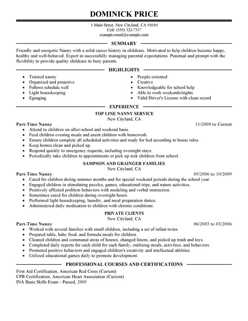 Full time student resume sample