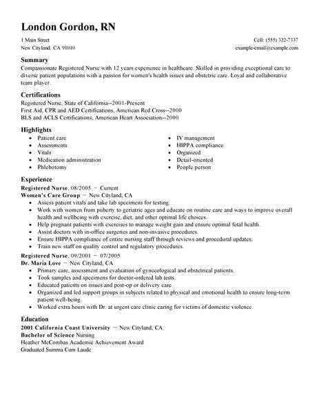 free rn resume template best format sample nurses - Best Resume Format For Nurses