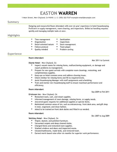 Resume Examples Housekeeping. Manager Cover Letter Resume For