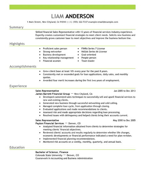 Military Service Resume Example. Best Sales Representative Resume