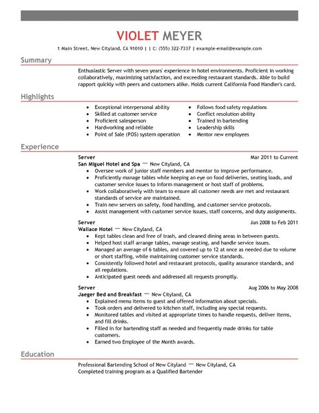 Housekeeper Resume Samples. Objective Professional. Private