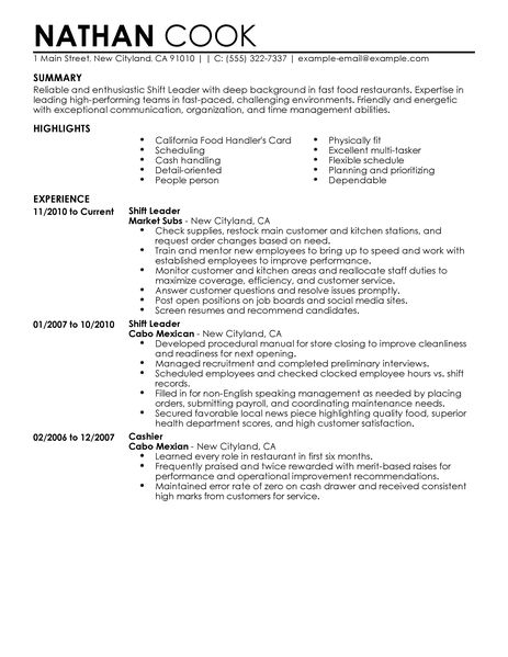 Hostess Resume Objective Examples. Resume Restaurant Resume