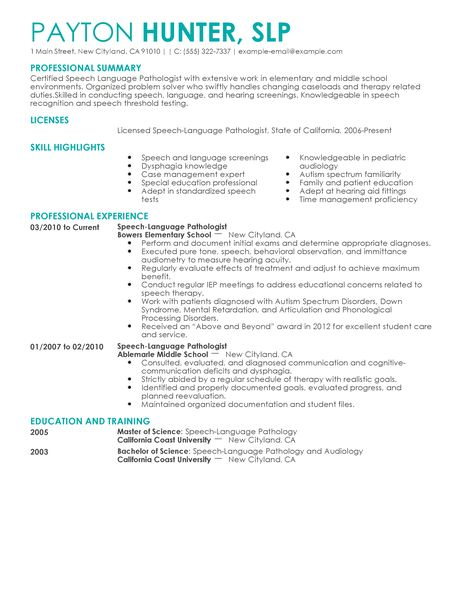 speech language pathology resume cover letter we can do your