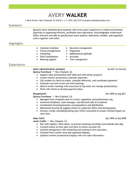 Example Office Assistant Resume. Administrative Assistant Resume