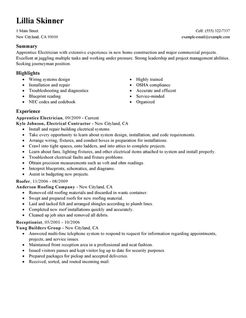 apprentice electrician resume high paid electrician resume s