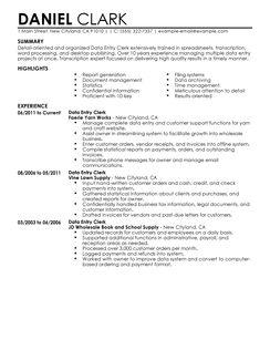 best data entry clerk resume example livecareer
