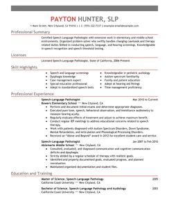 speech language pathologist resume examples healthcare resume