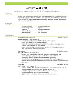 administrative assistant position resume best store livecareer examples of resumes for administrative positions