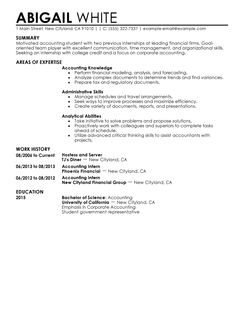 intership resume