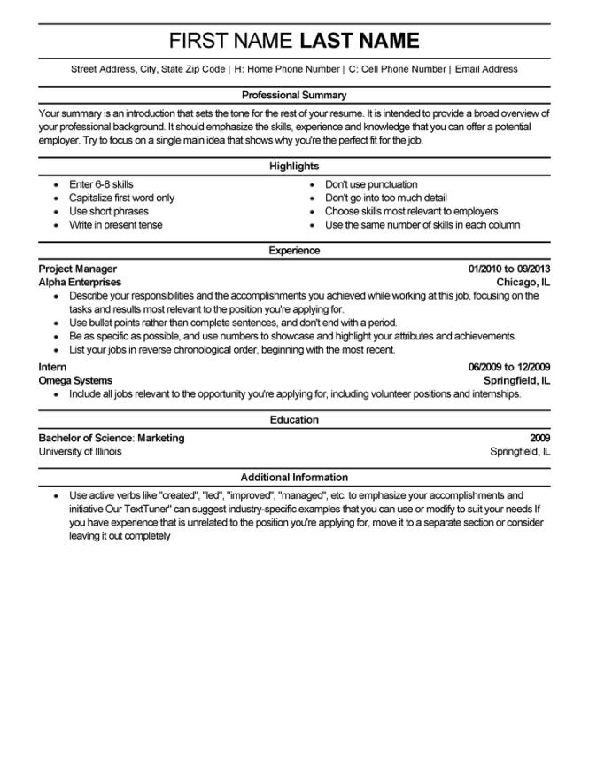 experienced resume templates to impress any employer livecareer - Resume Template For Experienced