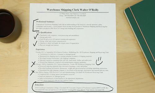 resume sample for warehouse clerk resume professional bookstore
