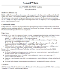 admissions advisor resume counselor resumes sample resumes sample