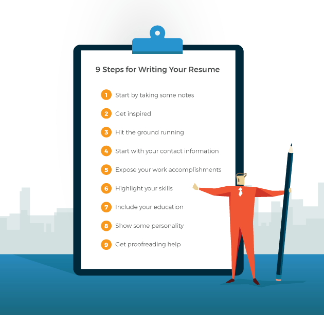 The First 9 Steps To Writing A Resume Resume Tips Livecareer