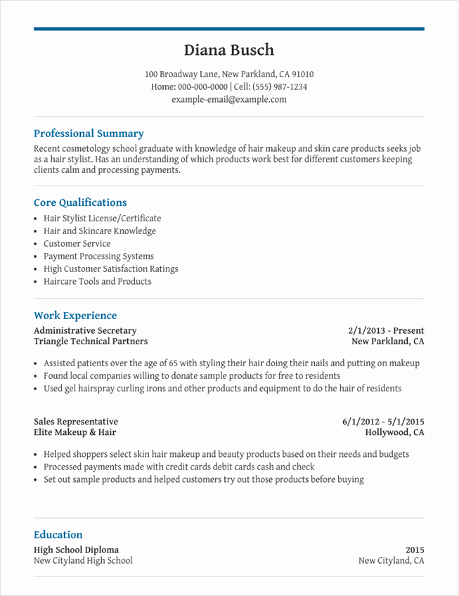 Graduate Resume Template For Microsoft Word Livecareer