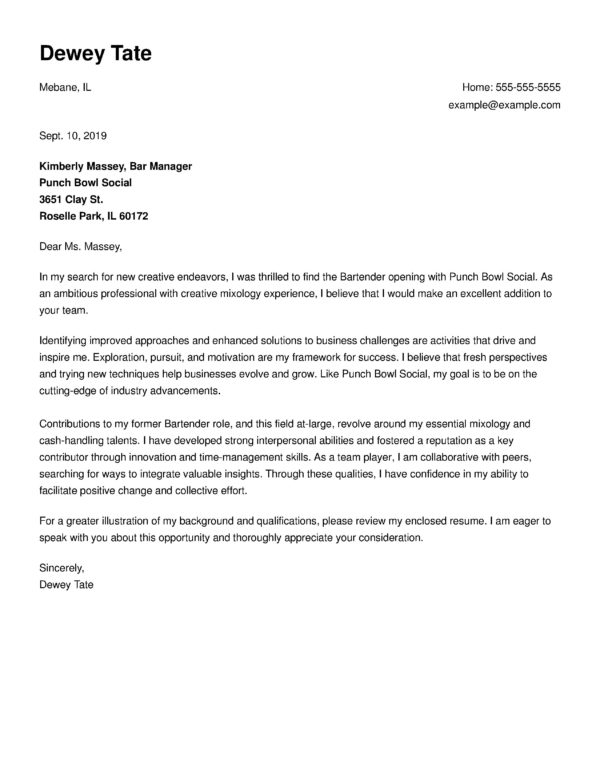 Free Cover Letter Templates Write A