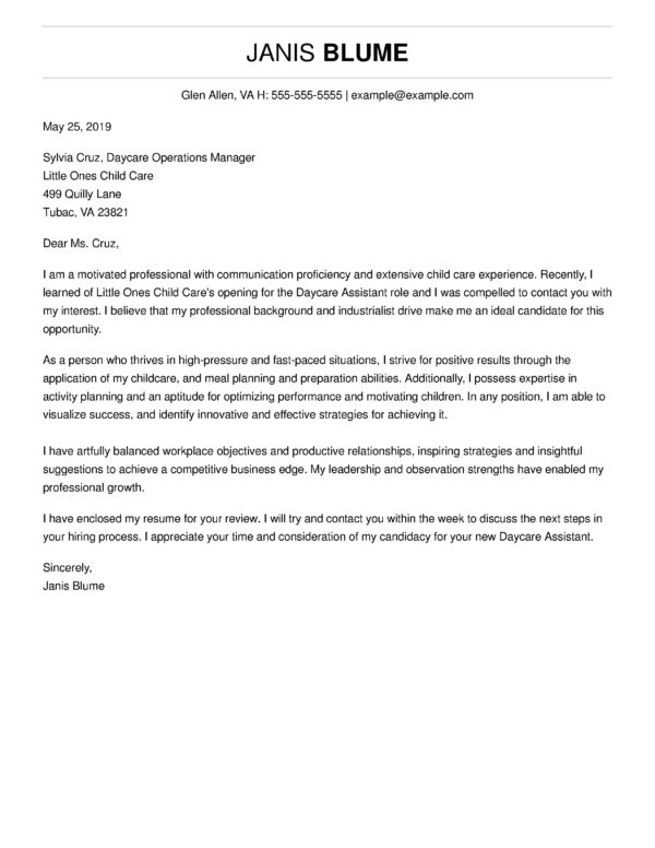 Free Cover Letter Templates Write A Professional Cover Letter