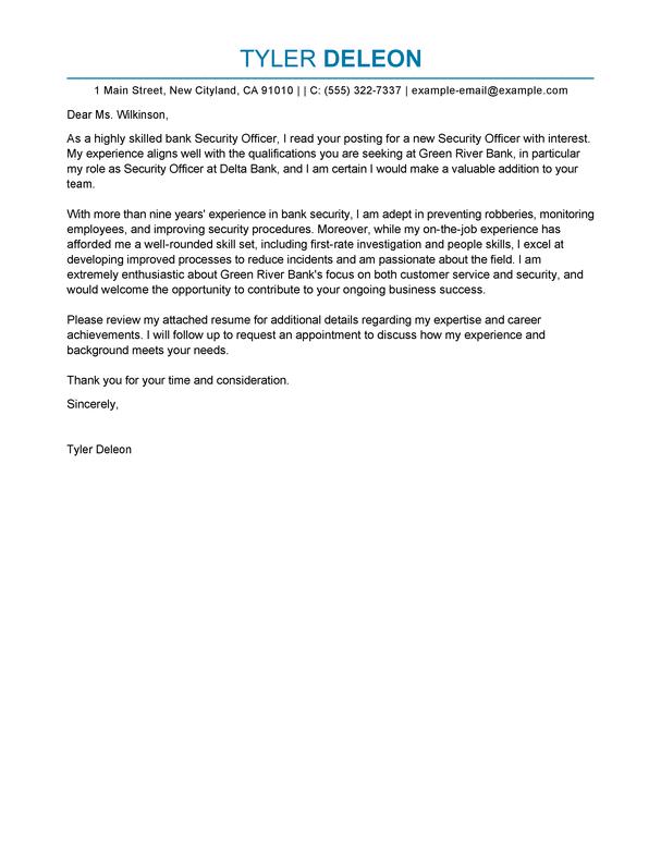 Officer Cover Letter
