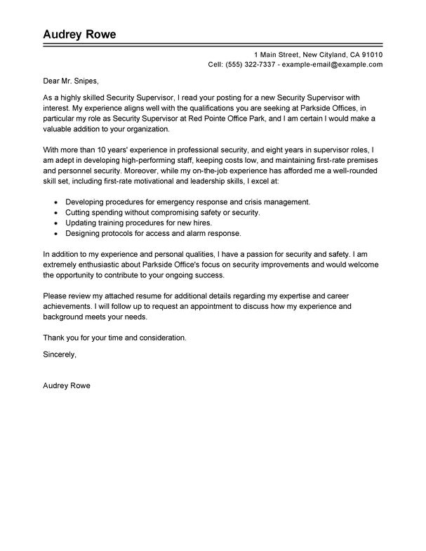 Resume Cover Letter Example Template - Resume Sample