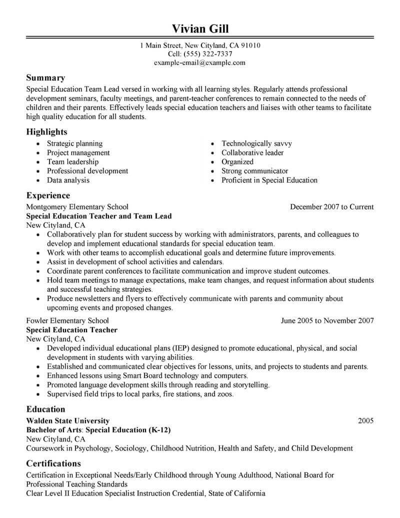 Best Team Lead Resume Example Livecareer
