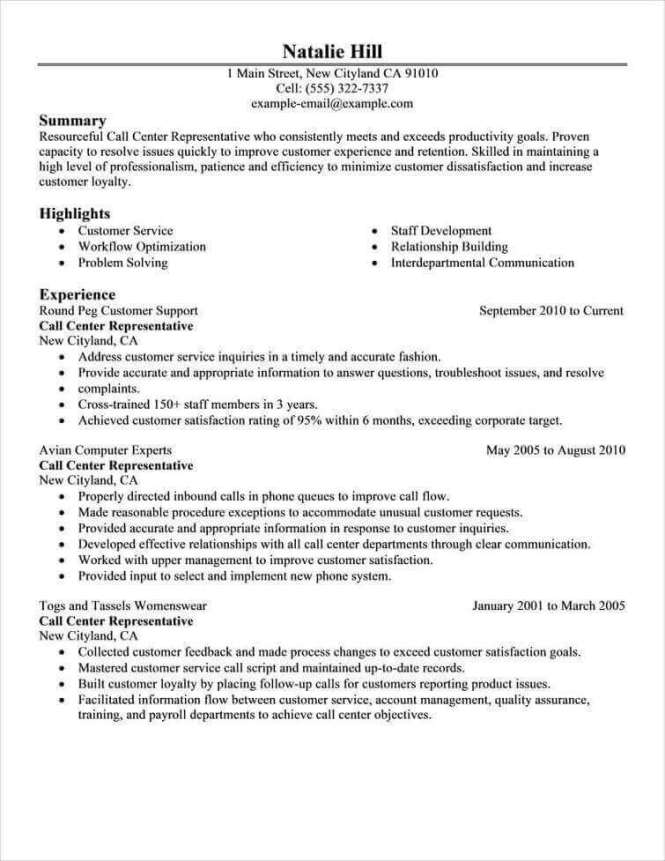 Free Resume Examples By Industry Job Le Livecareer Cv Setup Example