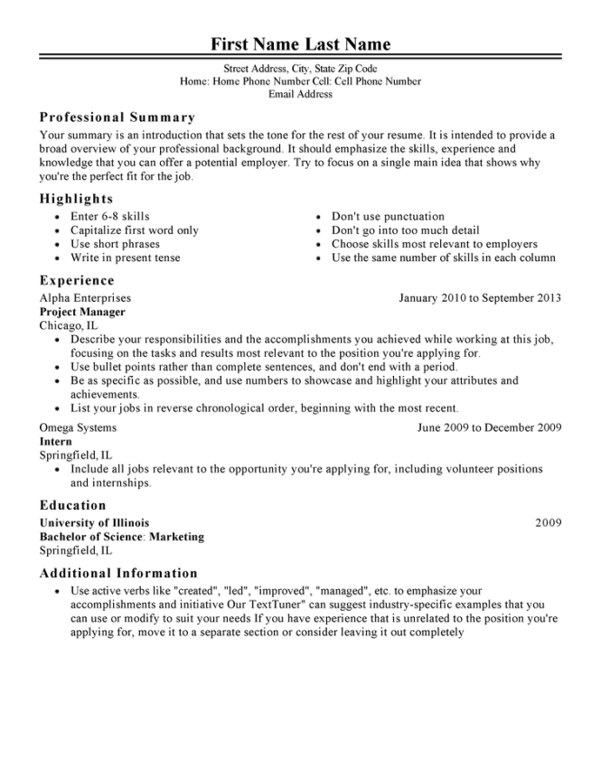 free resume templates fast easy livecareer employment - Employment Resume Template