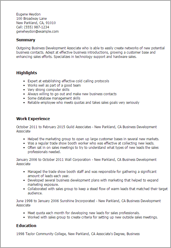 Wonderful Business Resume Templates To Impress Any Employer Livecareer