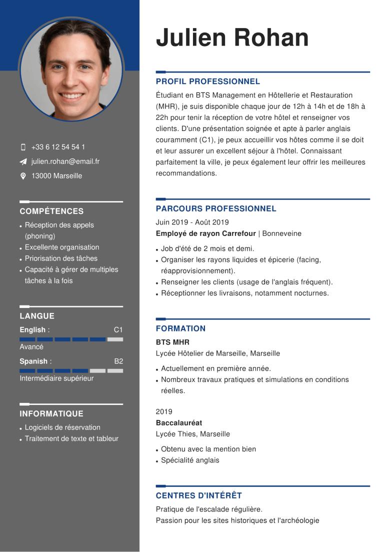 Exemple De Cv Assistant E Personnel Le Exemples Modeles De Cv