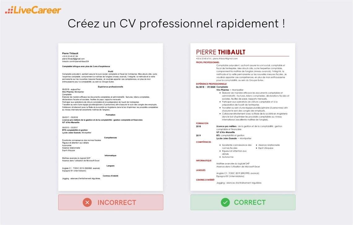 Exemple De Cv Chef Comptable Exemples Modeles De Cv