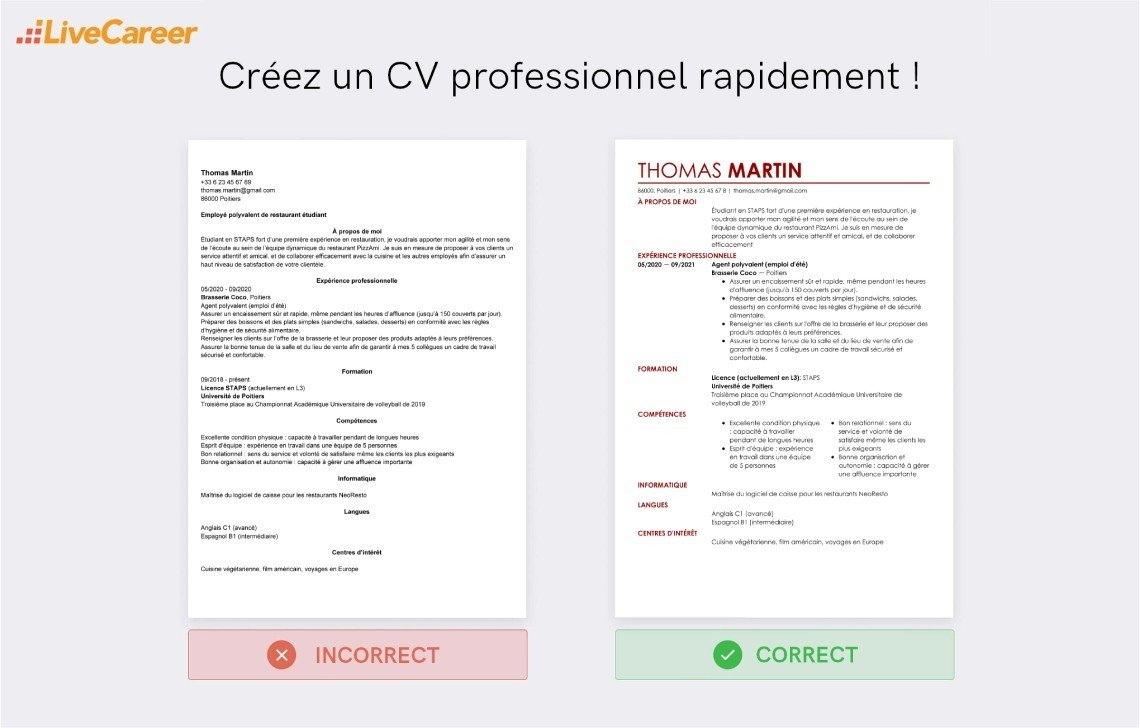 Exemple De Cv Employe De Restauration Rapide Exemples Modeles De Cv