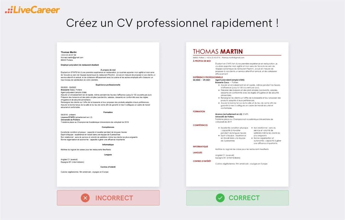 Exemple De Cv Employee De Cantine Exemples Modeles De Cv