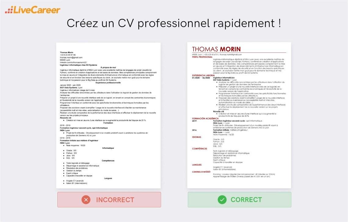 Exemple De Cv Ingenieur Logiciel Exemples Modeles De Cv