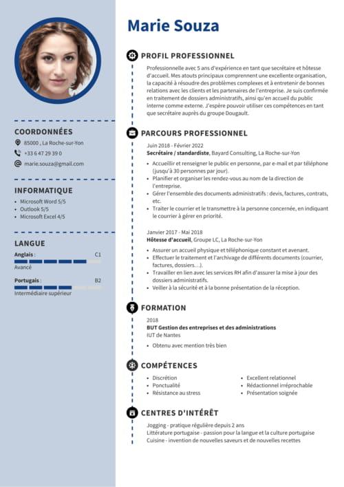 Exemple De Cv Secretaire Juridique Exemples Modeles De Cv