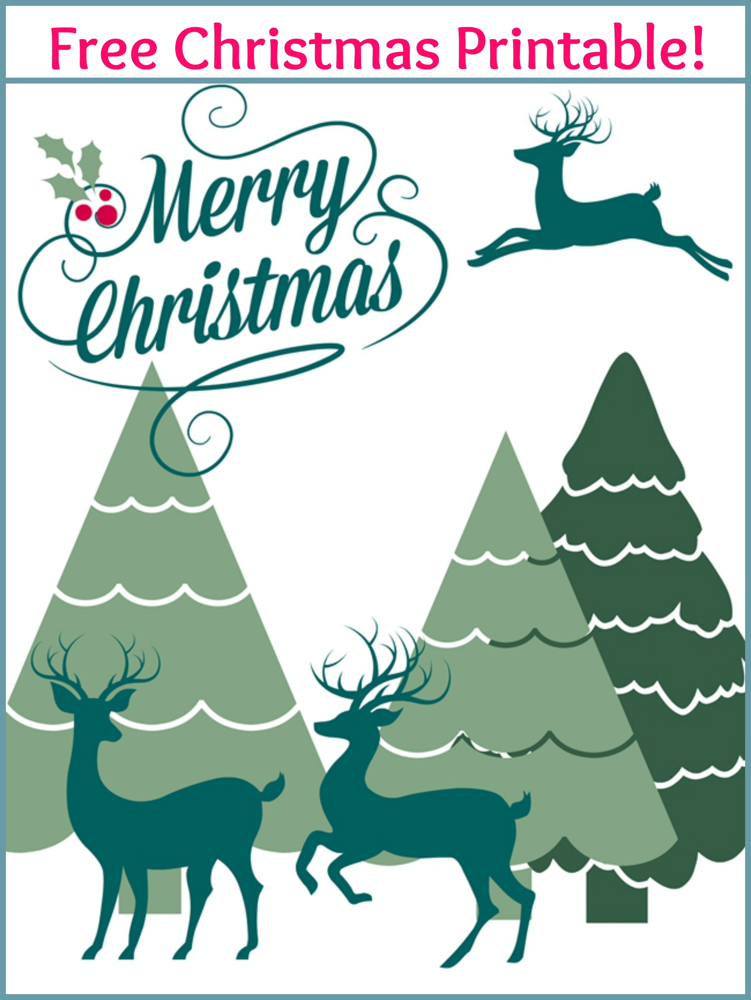 Merry Christmas Free Printable